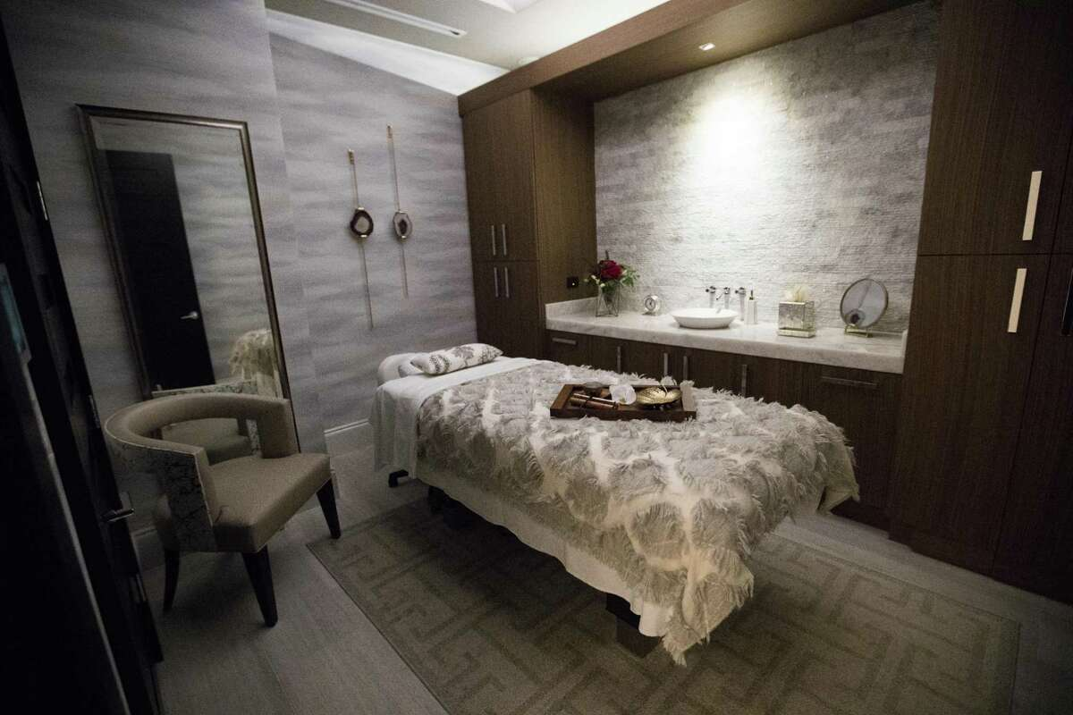 Treatment room at the Spa at the Post Oak Hotel