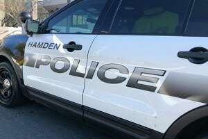 Hamden police vehicle.