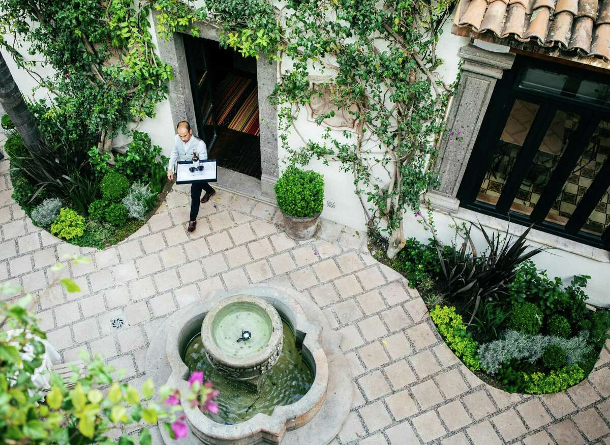 Hotel Amparo has a beautifully landscaped central courtyard.