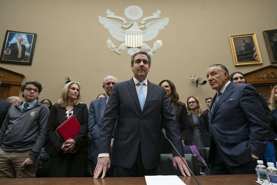 Michael Cohen, President Donald Trump's former personal lawyer, arrives to testify before the House Oversight and Reform Committee on Capitol Hill in Washington, Wednesday, Feb. 27, 2019.  (AP Photo/J. Scott Applewhite) Photo: J. Scott Applewhite, Associated Press