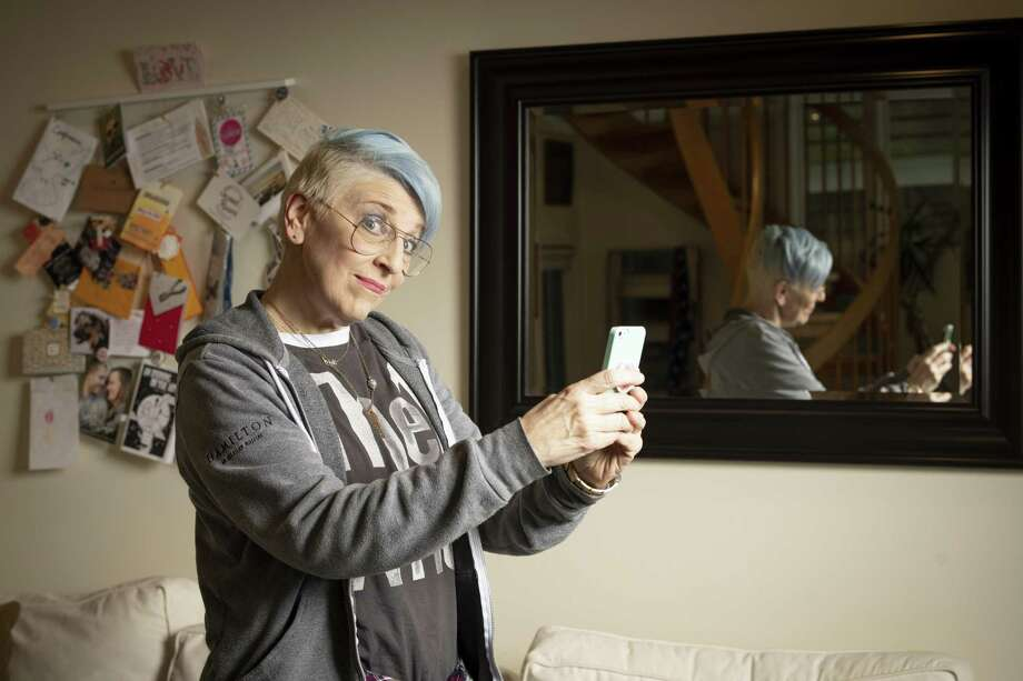 Lisa Lampanelli, a Fairfield resident, is trading in stand-up comedy for a new career as a life coach. Photo: David O. Gunn / For Hearst Connecticut Media Group