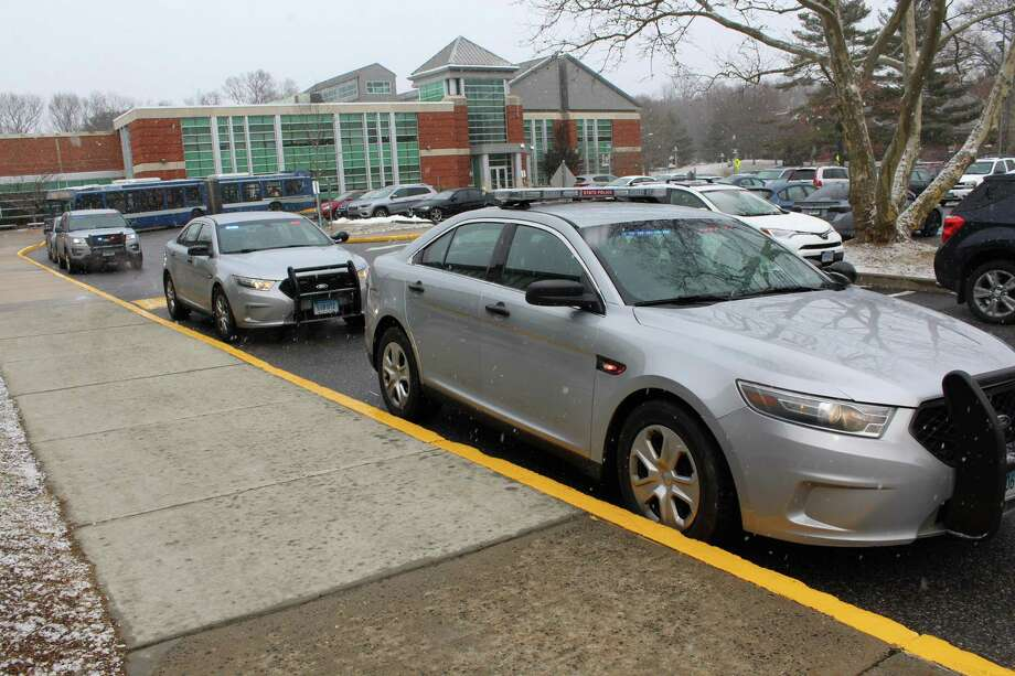 State and local police responded to Norwalk Community College Wednesday, Feb. 27, 2019, on reports of threats made by a student. Photo: Pat Tomlinson / Hearst Connecticut Media