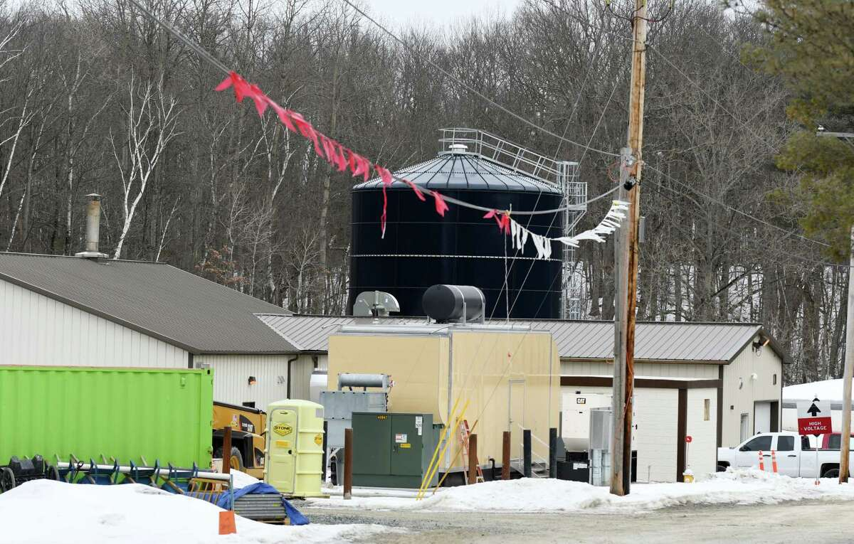 A view of the Niskayuna Wastewater Treatment Plant on Wednesday, in Niskayuna, NY. (Phoebe Sheehan/Times Union)