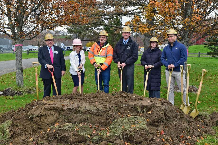 A groundbreaking was recently held to kick off the Shepaug Valley (Region 12) Regional Agriscience STEM Academy project in Washington. The project includes the construction of a new, 52,000 square foot Agriscience STEM center. The facility will support the school's new AgSTEM program that will serve 139 students from the region. Photo: O & G Industries