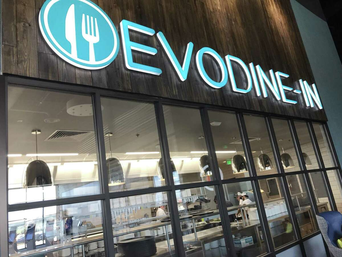The new EVO Entertainment Schertz movie multiplex has a full-service restaurant with a kitchen in full view, too.