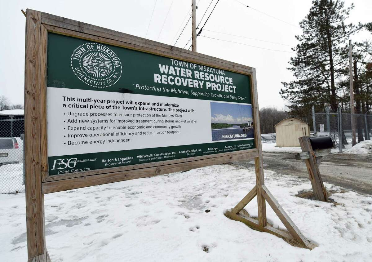 A view of the of the Niskayuna Wastewater Treatment Plant on Wednesday, Feb. 27, 2019 in Niskayuna, NY. (Phoebe Sheehan/Times Union)
