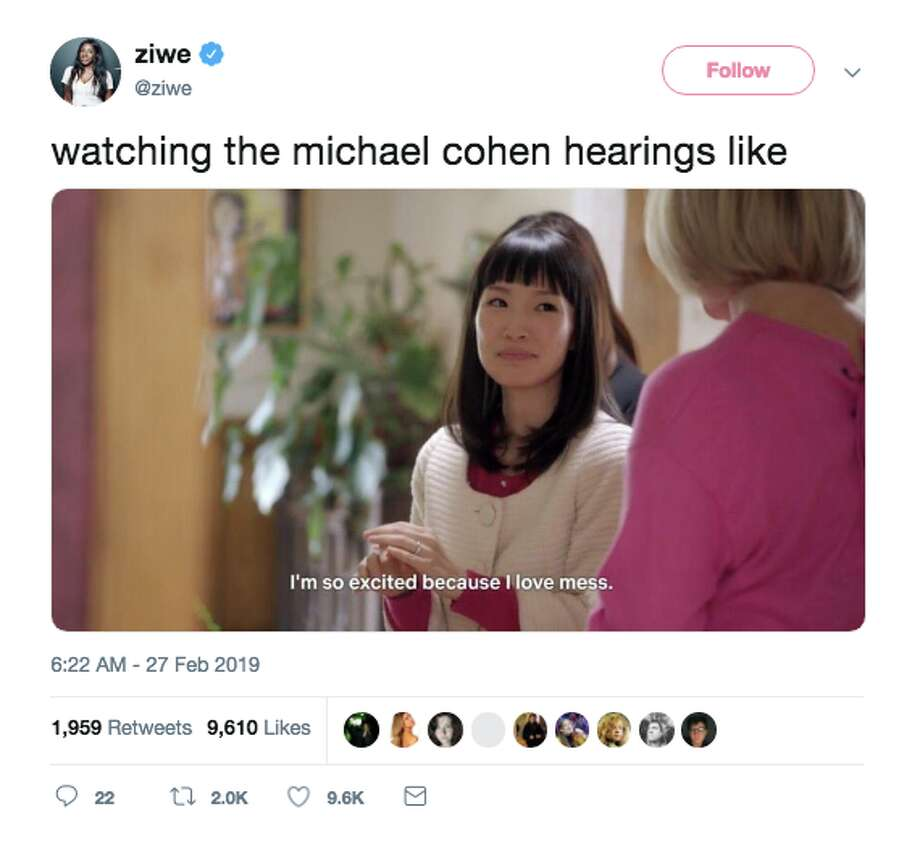 Twitter reacts to Michael Cohen's testimony to Congress on Feb. 27, 2019. Photo: Screenshot / Twitter