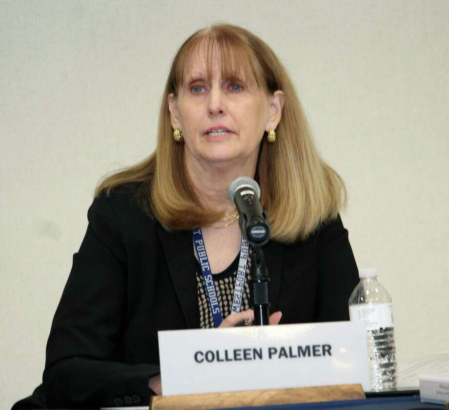 Superintendent of Schools Colleen Palmer responds to allegations that the district mishandled sexual assault complaints at the Jan. 29, 2018 meeting of the Board of Education in Westport, Conn. Photo: Justin Papp / Hearst Connecticut Media / Westport News
