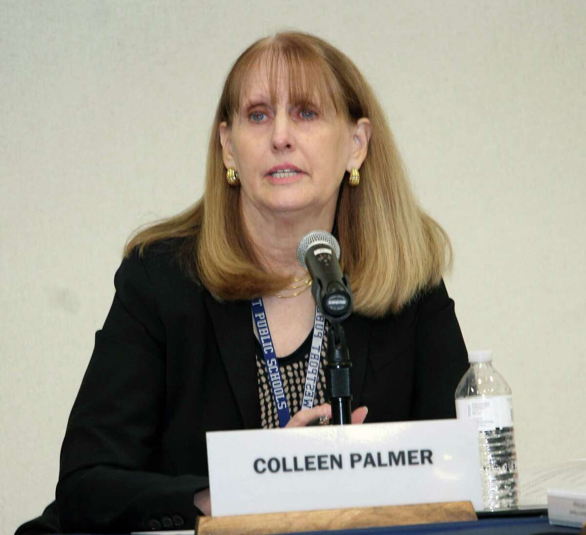 Superintendent of Schools Colleen Palmer at the Jan. 29, 2018, meeting of the Board of Education in Westport, Conn.