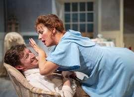 """Joseph Patrick O'Malley (left) and Rebecca Dines in Aurora Theatre's """"Creditors."""""""