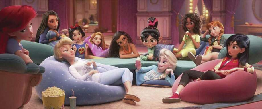 "The Disney princess scene from ""Ralph Breaks the Internet."""