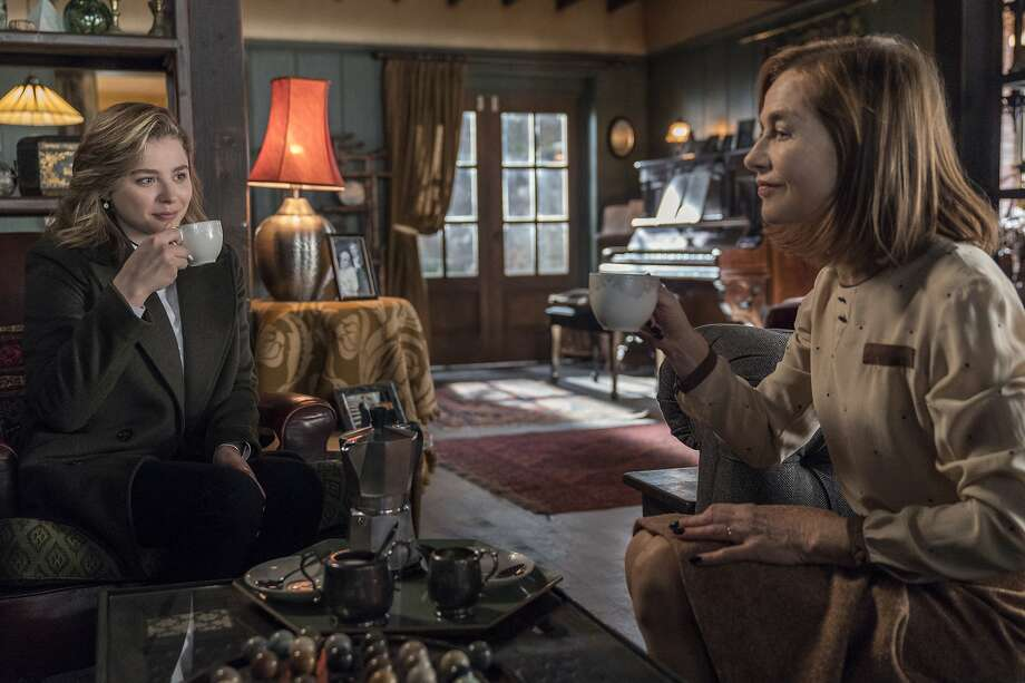 """This image released by Focus Features shows Chloë Grace Moretz, left, and Isabelle Huppert in a scene from """"Greta."""" ( Jonathan Hession/Focus Features via AP) Photo: Jonathan Hession, Associated Press"""