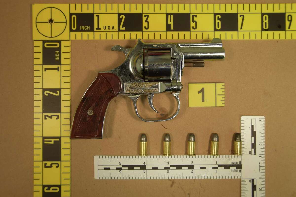 Stamford police say this is the revolver that Tareik Gantt dropped while running from police.