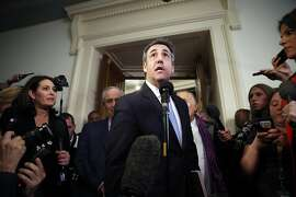 Michael Cohen, President Donald Trump's former lawyer, speaks after testifying to the House Oversight and Reform Committee on Capitol Hill in Washington, Wednesday, Feb. 27, 2019. (AP Photo/Pablo Martinez Monsivais)