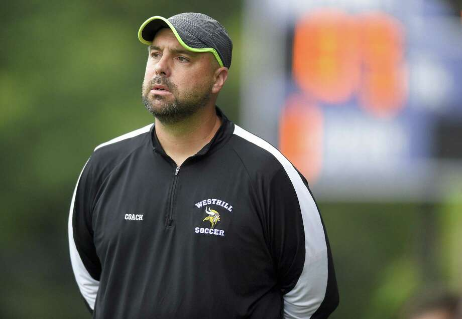 Westhill girls soccer coach David Flower is stepping down after 13 seasons guiding the Vikings. Photo: Matthew Brown / Hearst Connecticut Media / Stamford Advocate