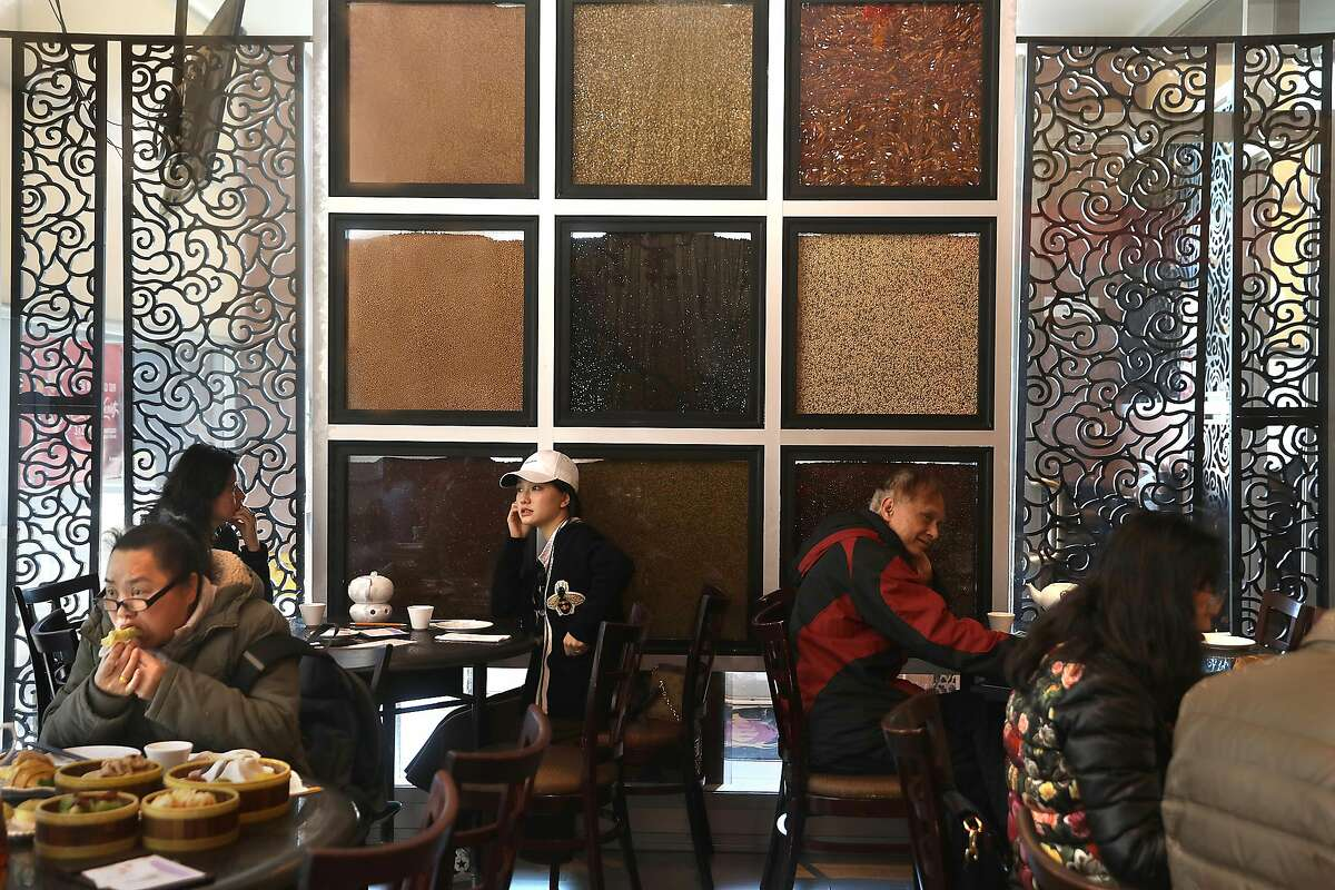 Seed wall display (back middle) seen at Dragon Beaux on Tuesday, Feb. 19, 2019, in San Francisco, Calif.
