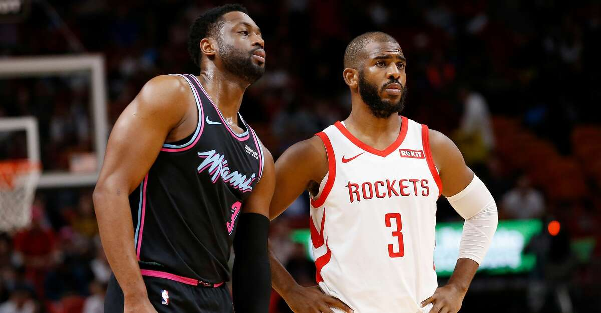 PHOTOS: Rockets game-by-game Dwyane Wade #3 of the Miami Heat and Chris Paul #3 of the Houston Rockets look on during the first half at American Airlines Arena on December 20, 2018 in Miami, Florida. (Photo by Michael Reaves/Getty Images) Browse through the photos to see how the Rockets have fared in each game this season.