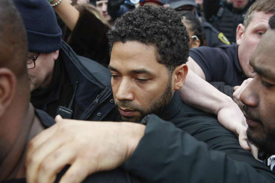 "Jussie Smollett leaves George N Leighton Criminal Courthouse in Chicago Feb. 21. He allegedly staged an attack on himself because he wanted more money from ""Empire,"" the show in which he appears. If true, he has done a disservice to real victims of hate crimes. Photo: Kamil Krzaczynski /Associated Press / Copyright 2019 The Associated Press. All rights reserved."