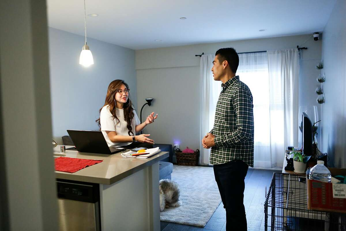 Tenant Alex Mercando discusses how grateful she is to be living in the ADU with owner Derek Flores in the Richmond area on Wednesday, August 29, 2018 in San Francisco, Calif.