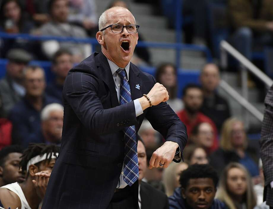 Connecticut head coach Dan Hurley during the first half of an NCAA college basketball game, Thursday, Feb. 14, 2019, in Hartford, Conn. (AP Photo/Jessica Hill) Photo: Jessica Hill, Associated Press