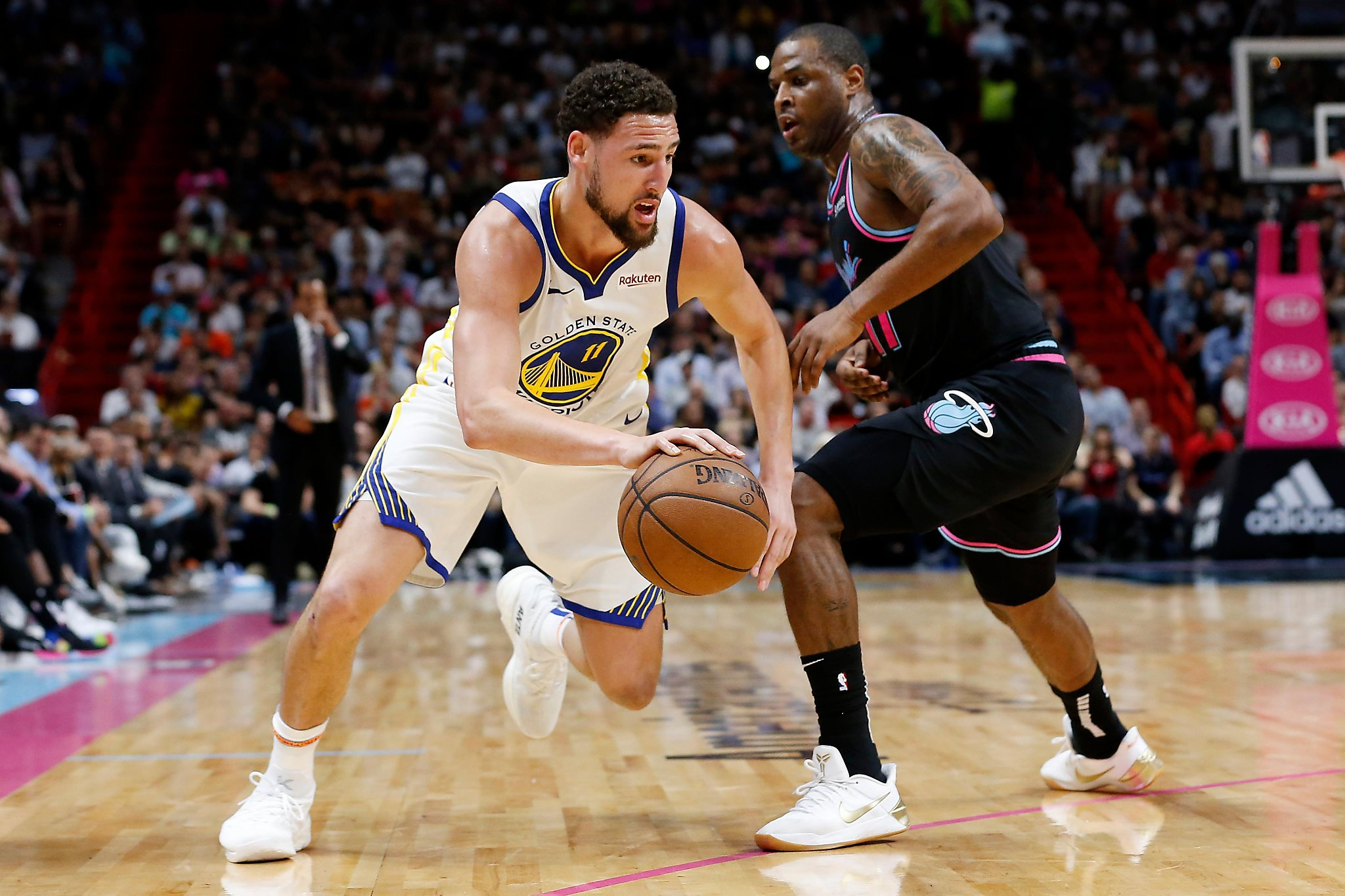 d14090a8b03d Warriors  Klay Thompson listed as questionable for Denver game ...