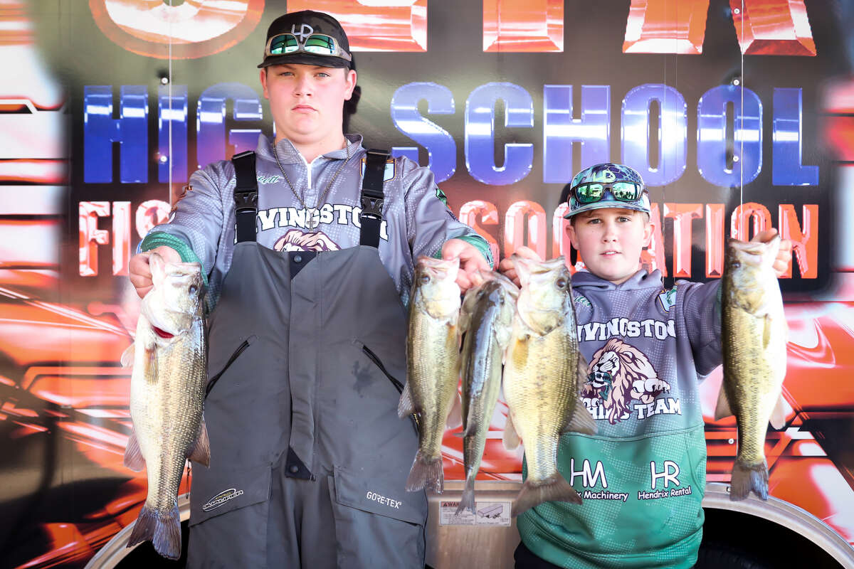 High school anglers present their catch from the Ford Southeast Texas High School Championship Series at Cypress Bend Resort in Many, La., on Feb. 24.