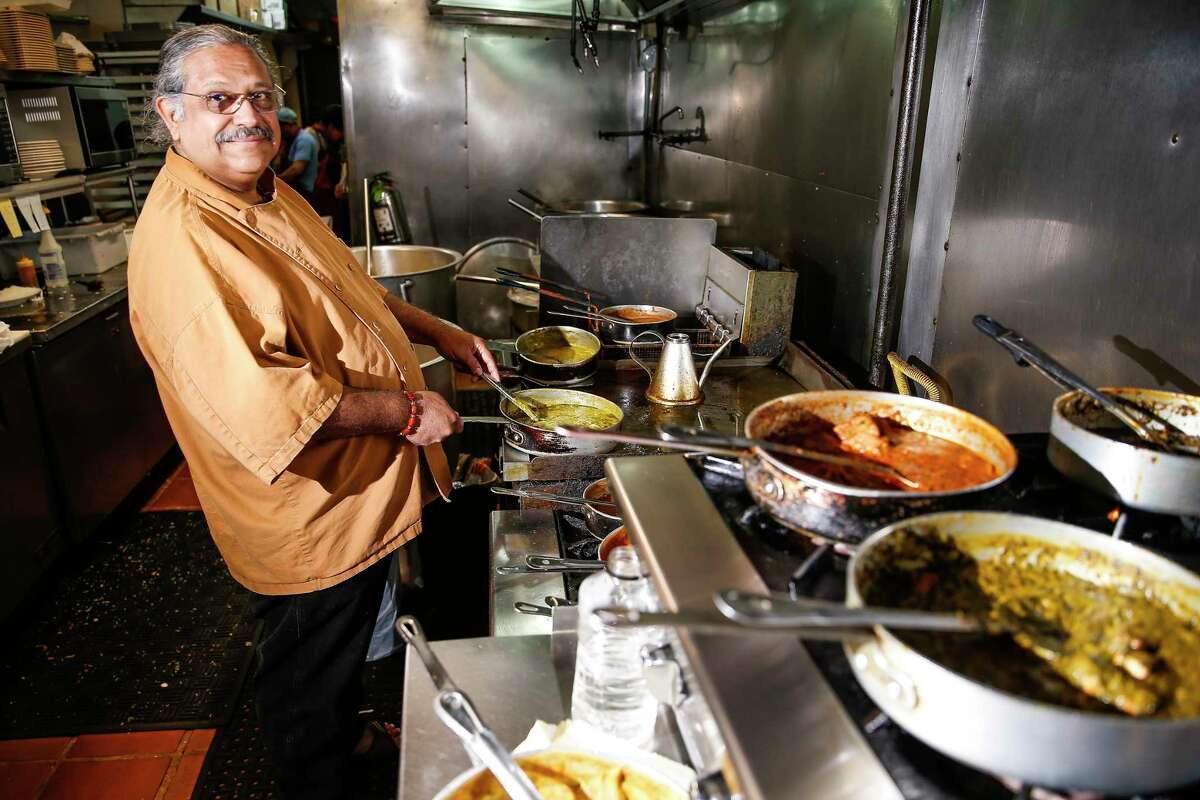 BEFORE: Himalaya restaurant chef-owner Kaiser Lashkari stands in the kitchen Wednesday, Aug. 2, 2017 in Houston.