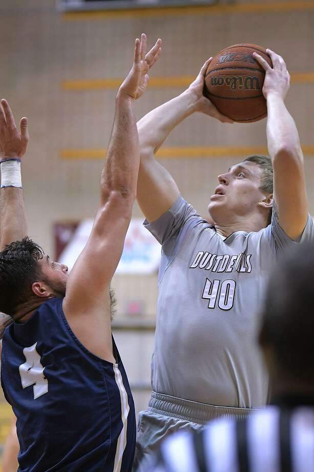 TAMIU lost 74-58 to No. 5 St. Edward's on Wednesday as they will have a win-and-in game with St. Mary's Saturday for the final postseason spot. Caleb Highley had a near double-double with eight points and 10 rebounds. Photo: Cuate Santos /Laredo Morning Times / Laredo Morning Times