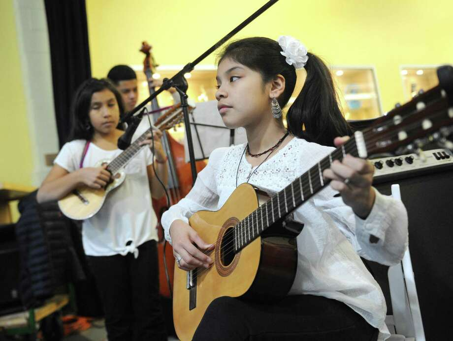 Intakemusic students perform in March 2018 in Stamford, Conn., at that year's installment of Fairfield County's Giving Day. Photo: Tyler Sizemore / Hearst Connecticut Media / Greenwich Time