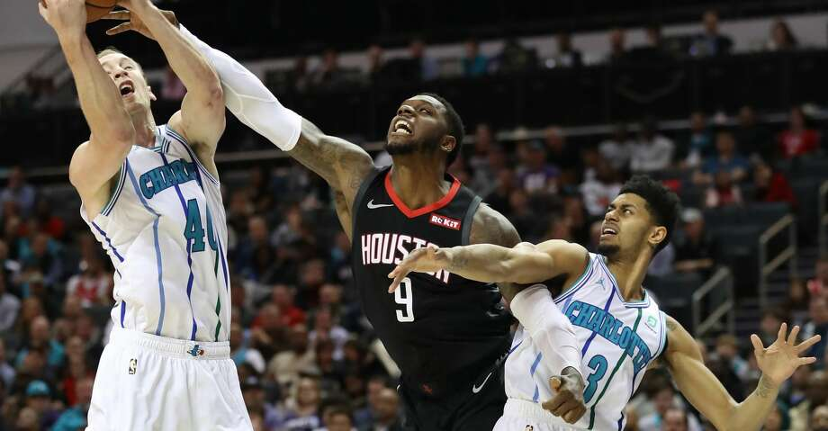 Terrence Jones' lone action in his return tour with the Rockets came Feb. 27 in Charlotte. Photo: Streeter Lecka/Getty Images