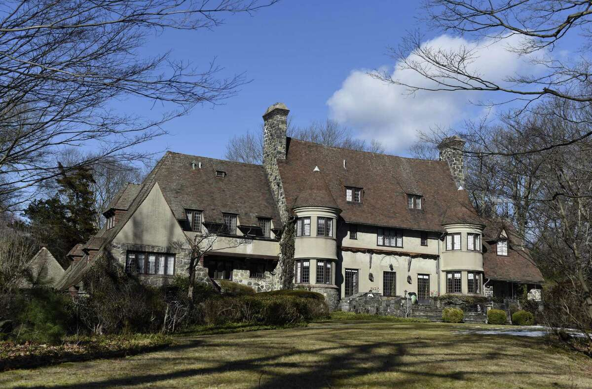 The historic Country Life House in the Khakum Wood Association, Connecticut's oldest housing association, in Greenwich.