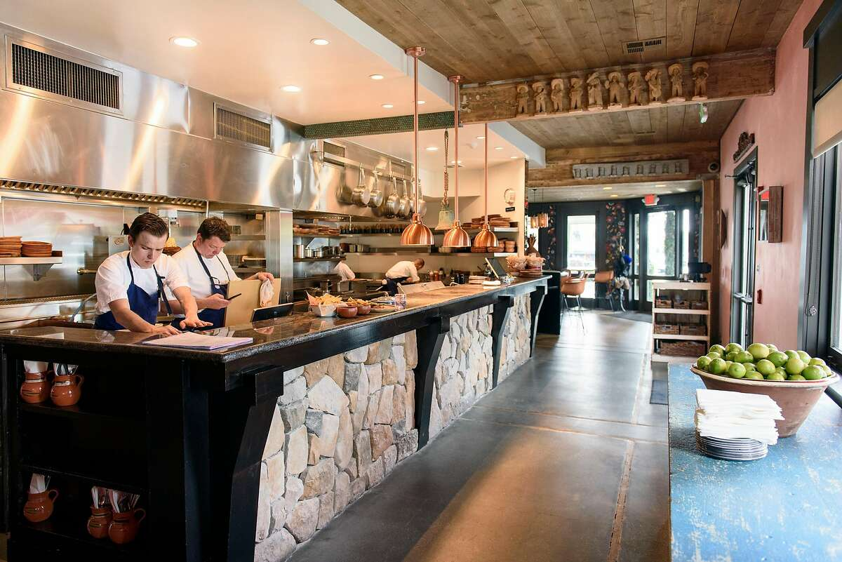The open kitchen area at La Calenda restaurant in Yountville, Calif., on Wednesday February 27, 2019.