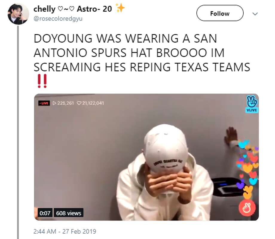 @rosecoloredgyu: DOYOUNG WAS WEARING A SAN ANTONIO SPURS HAT BROOOO IM SCREAMING HES REPING TEXAS TEAMS Photo: Instagram, Twitter Screengrabs