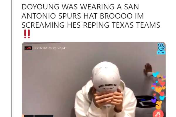 1of29 rosecoloredgyu  DOYOUNG WAS WEARING A SAN ANTONIO SPURS HAT BROOOO IM  SCREAMING HES REPING TEXAS TEAMSPhoto  Instagram ee0d508ff7784