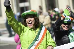 Photos from the Greenwich St. Patrick's Day Parade down Greenwich Avenue in last year. The parade will return on Sunday and the weather forecast seems ideal for a parade, which is traditionally one of the most well attended events of the year.