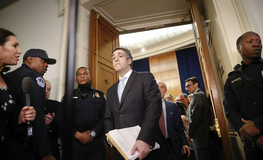 Michael Cohen testified behind closed doors to the House intelligence committee in the last of three appearances before Congress this week. Photo: Pablo Martinez Monsivais / Associated Press