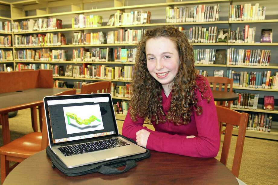 Hannah Even, Staples High School class of 2021, became the first Staples High School student to pass the SOLIDWORKS Associate Certification exam. Photo: Contributed