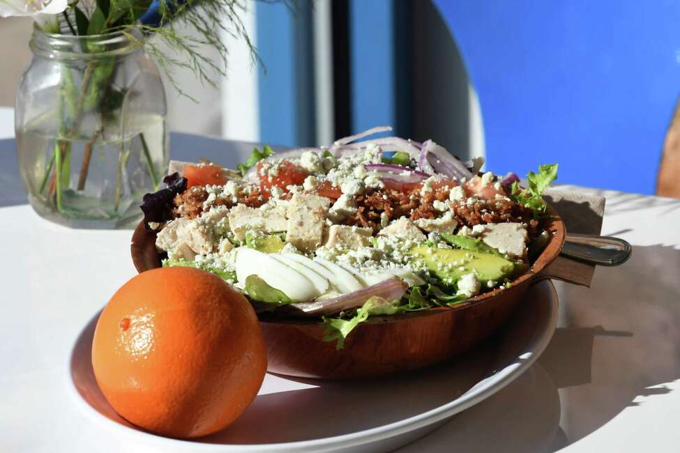 Cobb salad from Puzzles Bakery & Cafe on Monday, Jan. 28, 2019, in Schenectady, N.Y. (Will Waldron/Times Union)