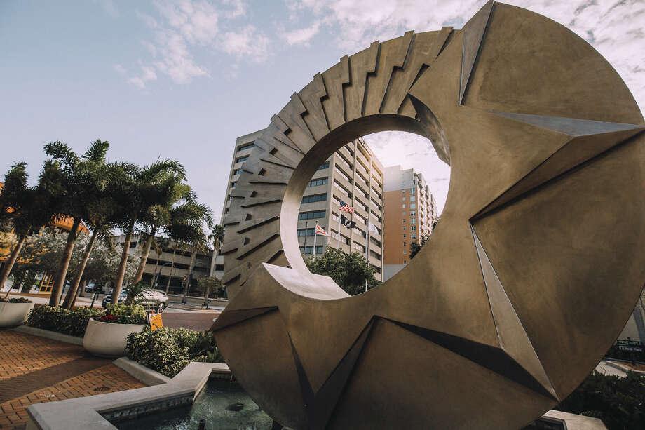 A sculpture in downtown Sarasota, Florida. (Provided by Visit Sarasota) Photo: Provided By Visit Sarasota