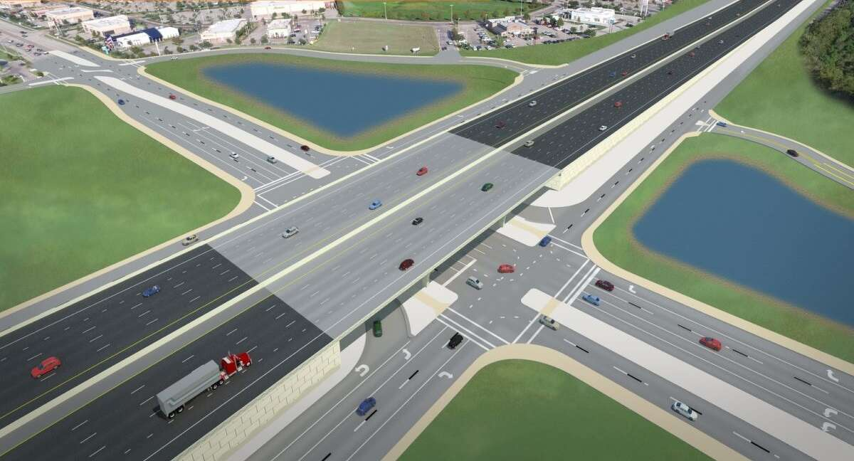 The existing I-45/FM 646 intersection will be converted so that FM 646 will go under the main lanes of I-45.