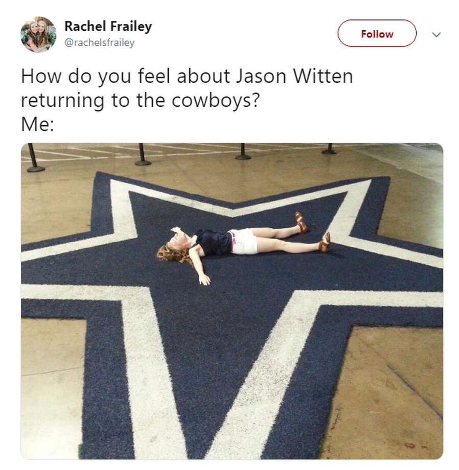 Social media exploded after Jason Witten announced his return to the Dallas Cowboys. Photo: Twitter