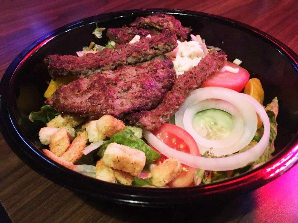 The burger salad at Chester's Hamburgers.