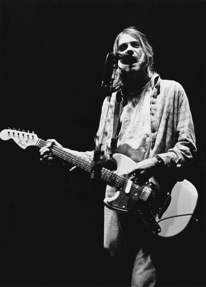 Kurt Cobain performs with Nirvana in Modena, Italy, on Feb. 21, 1994, just days before the band's last show. (Photo by Raffaella Cavalieri/Redferns/Getty Images) Photo: Photo By Raffaella Cavalieri/Redferns/Getty Images