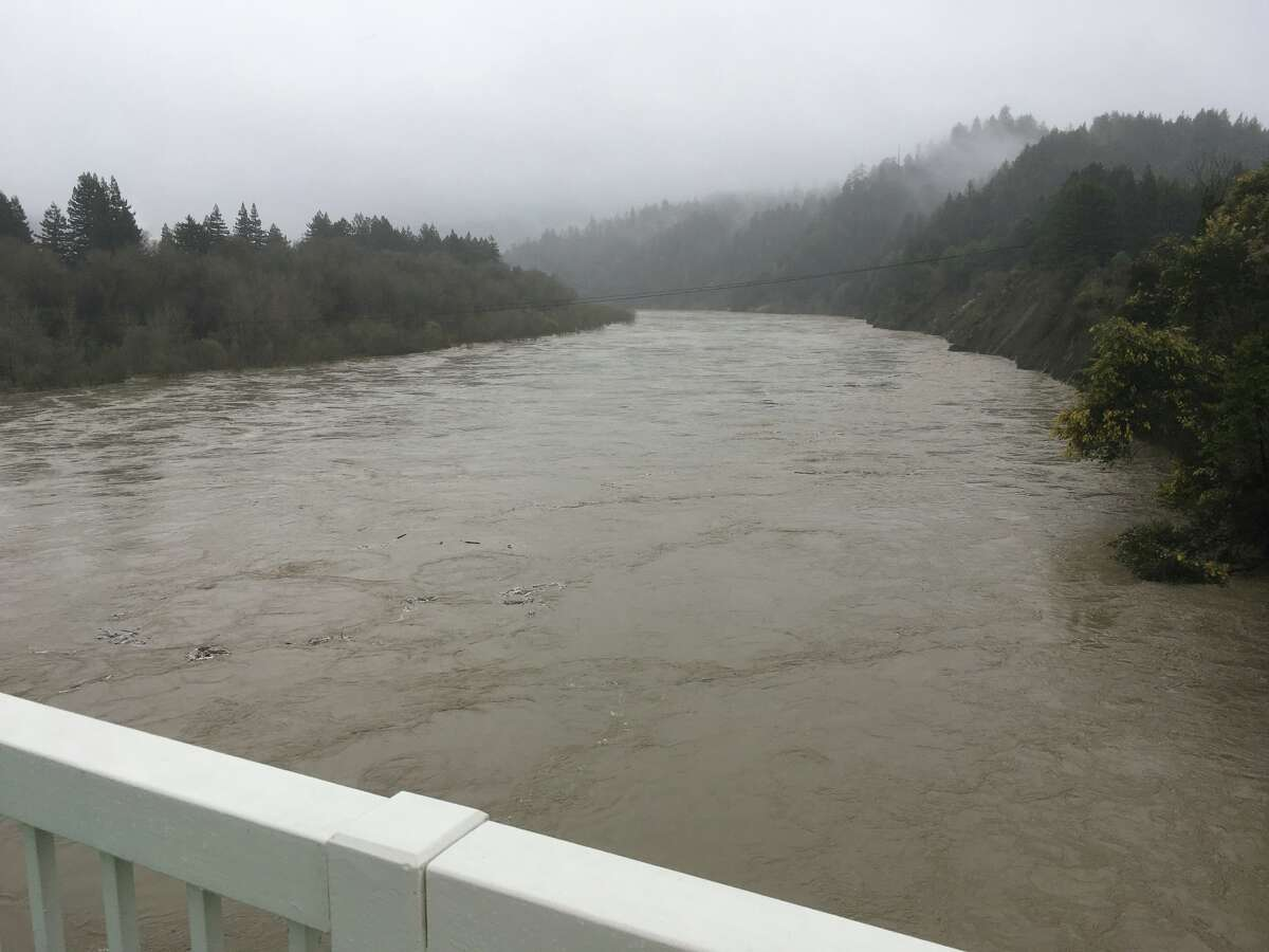 Flooding on Eel River in Northern California.