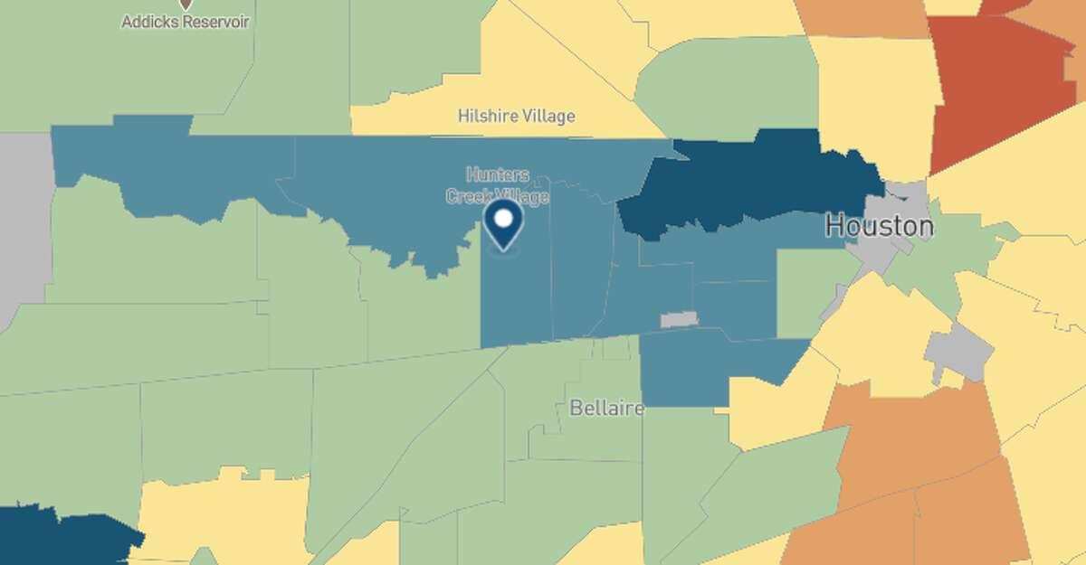77057 Zip code estimate: 82.7 County-level estimate (Harris): 78.9 Statewide estimate: 78.5