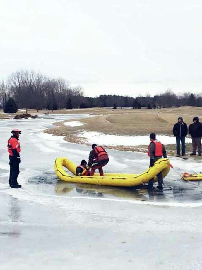 Sanilac County Sheriff's Office deputies performed ice dive training this week. (Submitted Photo)