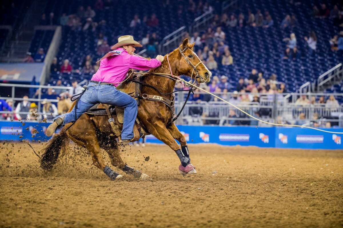 Tie-down roping: The rules- The calf is allowed a head start of 16 feet out of the box.- A 10-second penalty is added if the horse and rider leave the barrier too soon.- The cowboy can rope the calf by the foot, leg, or over the head.- The cowboy flanks the calf down to the ground and then ties three legs.- In order for the roper's time to be recorded, the calf must stay tied for an official three seconds.