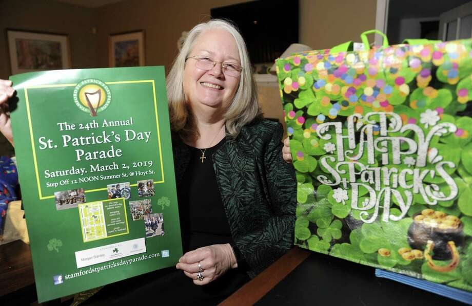 Polly O'Brien Morrow is the grand marshal for the city's St. Patrick's Day parade scheduled for Saturday, March 2. Photo: Matthew Brown / Hearst Connecticut Media / Stamford Advocate