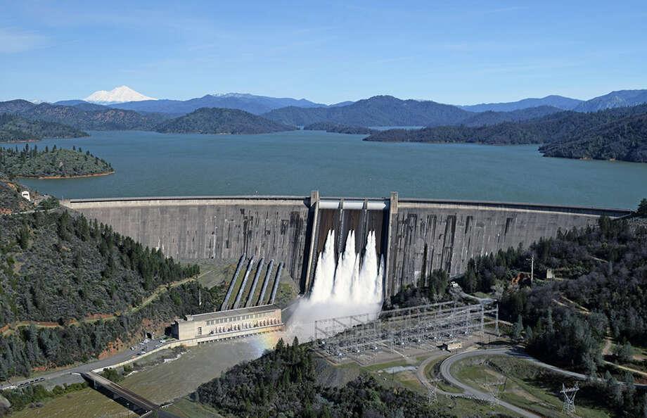 File Photo: Shasta Lake and Dam in 2017 amid a wet winter. Photo: U.S. Bureau Of Reclamation