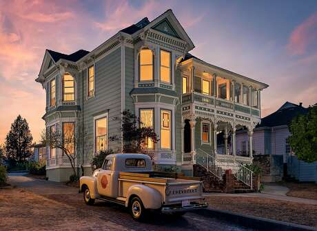 Photographer Bart Edson shot this two-story Victorian in Petaluma.